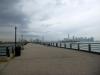 28 zicht op New York City vanaf de wandel pier van het New Yersey Liberty State Park