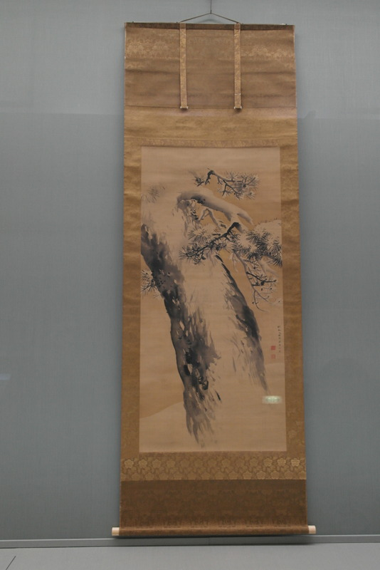 112-pine-tree-in-the-snow-ink-on-silk-edo-period-dated-1765
