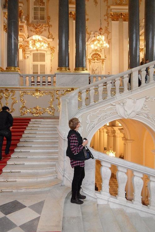 Hermitage Willie op de eerste trappen