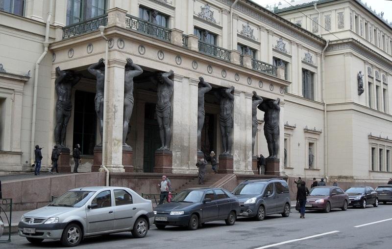 Hermitage winterpaleis pilaren