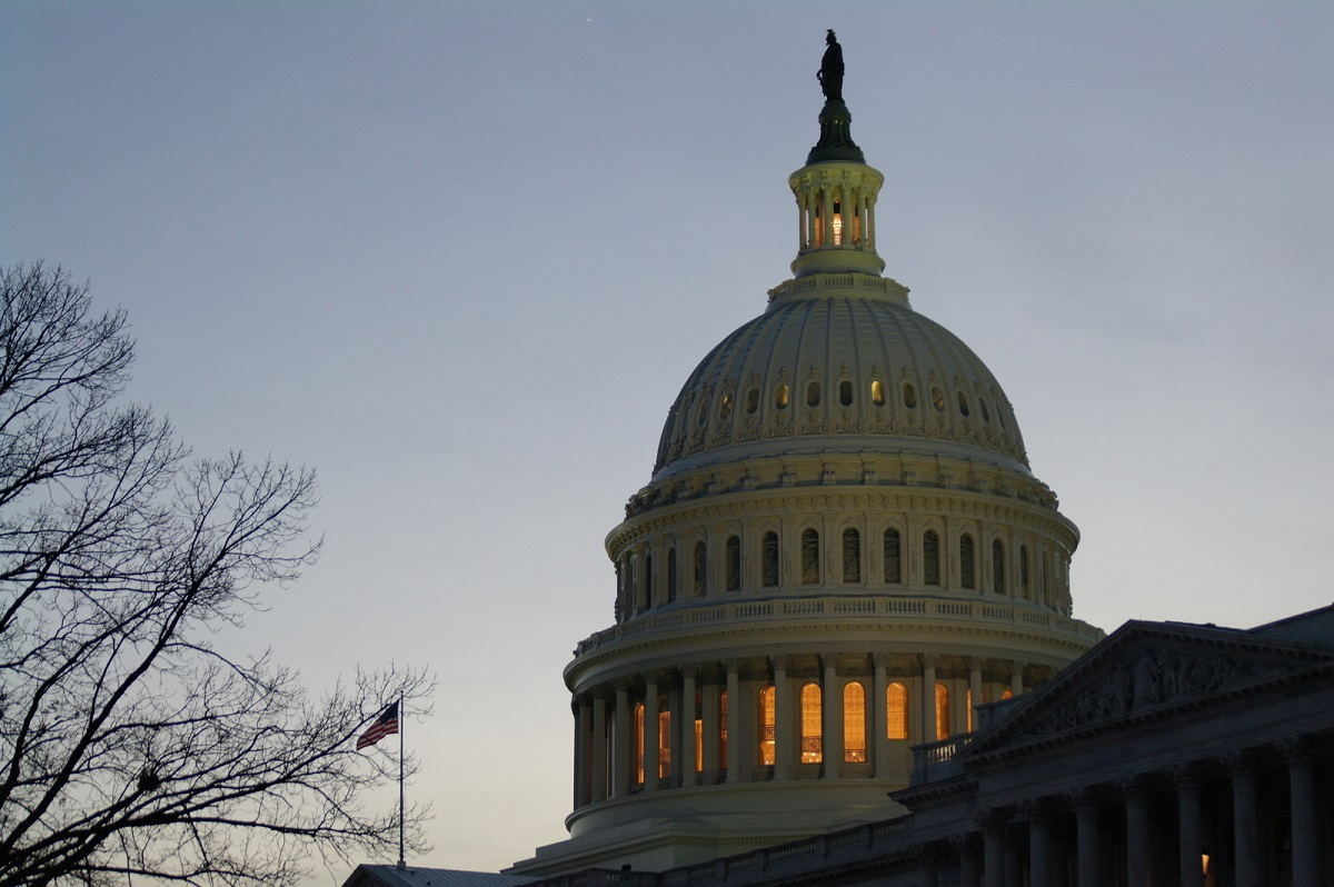17 de US Capitol Dome bij avond